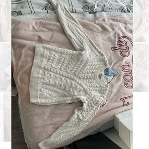 White sweater from GUESS